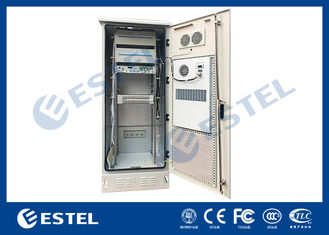 Single Wall Stainless Steel 38U Outdoor Telecom Enclosure 750x700x2000 With DC Air Conditioner